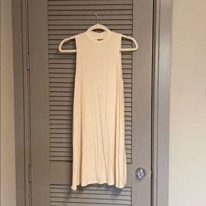 Top Shop cream Mock neck mini dress